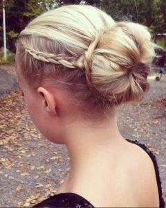 Formal Braided Bun Updo Hairstyles