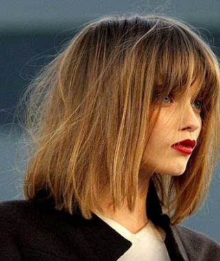 Blunt Bob Hairstyles With Face-Framing Bangs