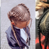 Thick Cornrows Bun Hairstyles (Photo 23 of 25)