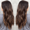 Long Thick Black Hairstyles With Light Brown Balayage (Photo 12 of 25)