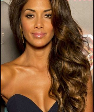 Side Swept Brunette Waves Hairstyles For Prom