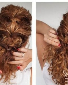 Diy Updos For Curly Hair