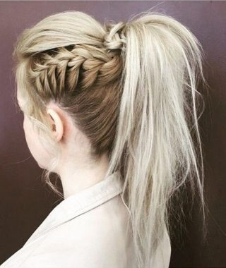 Pony Hairstyles With Textured Braid