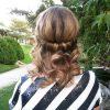 Rolled Half Updo Bob Braid Hairstyles (Photo 11 of 25)
