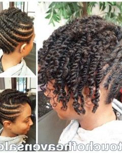 Two Strand Twist Updo Hairstyles