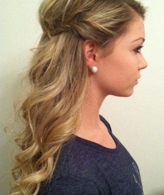 Long Hairstyles Half Pulled Back
