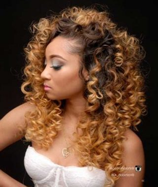 Curly Blonde Ponytail Hairstyles With Weave