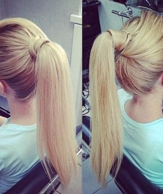 Straight High Ponytail Hairstyles With A Twist
