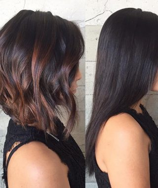 Black Inverted Bob Hairstyles With Choppy Layers