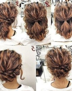 Updo Hairstyles For Short Hair Prom
