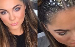Glitter Ponytail Hairstyles For Concerts And Parties