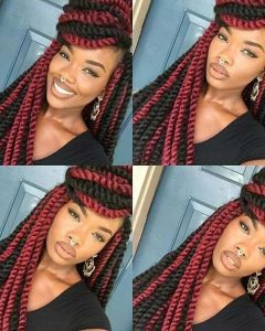 Cornrows Hairstyles With Color