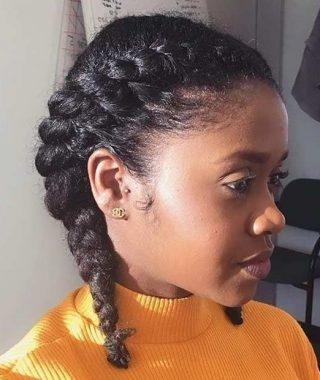 Reverse Flat Twists Hairstyles