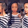 Cornrow Fishtail Side Braided Hairstyles (Photo 8 of 25)