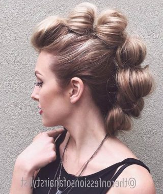 Retro Pop Can Updo Faux Hawk Hairstyles