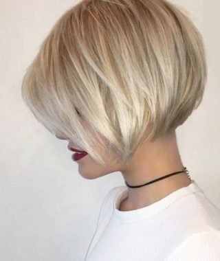 One Length Short Blonde Bob Hairstyles