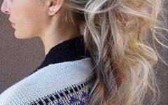 High And Glossy Brown Blonde Pony Hairstyles