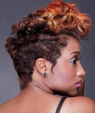 Curly Highlighted Mohawk Hairstyles