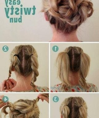 Long Hair Easy Updo Hairstyles