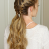 Messy Double Braid Ponytail Hairstyles (Photo 20 of 25)