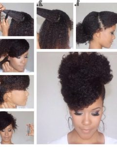 Updo Hairstyles For Natural Hair With Weave