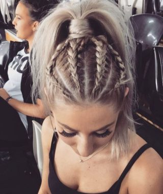 Glossy Twisted Look Ponytail Hairstyles