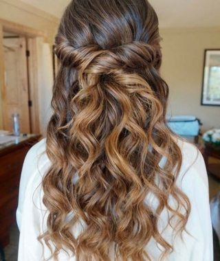 Half Up Half Down Wedding Hairstyles For Long Hair