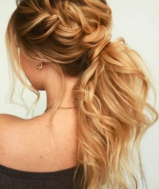 Two-Toned Pony Hairstyles For Fine Hair