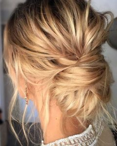 Low Messy Bun Wedding Hairstyles For Fine Hair