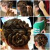 Double Braid Bridal Hairstyles With Fresh Flowers (Photo 25 of 25)