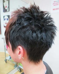 Spiky Gray Pixie Haircuts