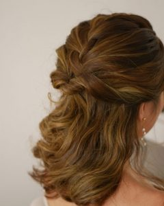 Cute Formal Half Updo Hairstyles For Thick Medium Hair