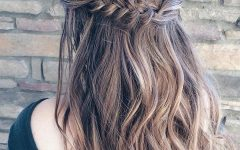 French Braided Halfdo Bridal Hairstyles