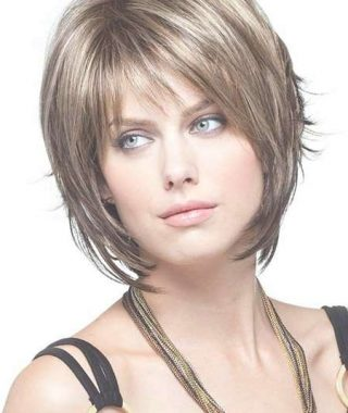 Layered Bob Haircuts With Fringe
