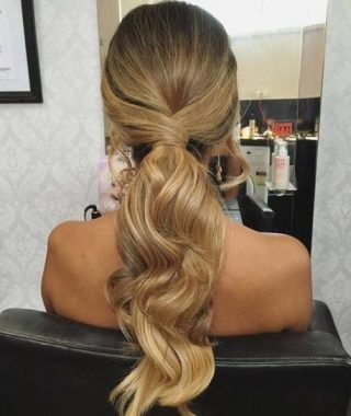 Low Ponytail Hairstyles With Waves