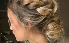 Braided And Twisted Off-Center Prom Updos