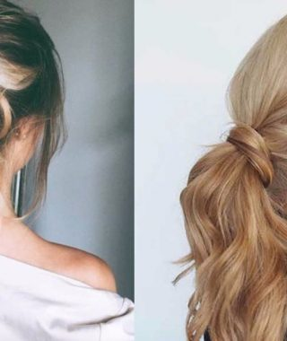 Glam Ponytail Hairstyles