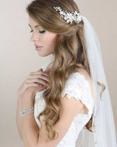 Article Half Up Half Down Wedding Hairstyles With Tiara And Veil