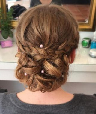 Classic Roll Prom Updos With Braid