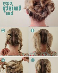 Easy Updo Hairstyles For Medium Hair To Do Yourself