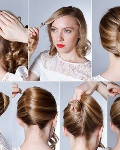 Cute Updo Hairstyles For Medium Hair
