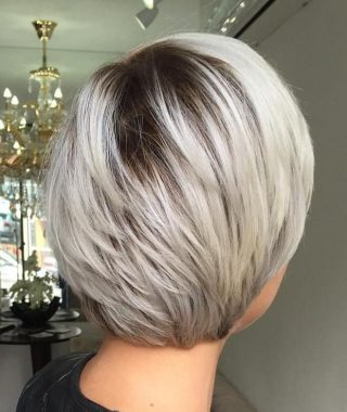Ash Blonde Bob Hairstyles With Feathered Layers