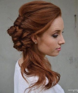 Fancy Side Ponytail Hairstyles