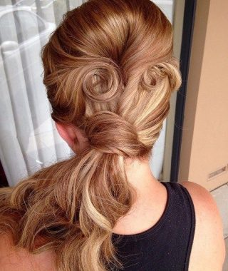 Vintage Curls Ponytail Hairstyles