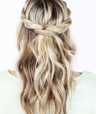 Easy Cute Gray Half Updo Hairstyles For Wedding