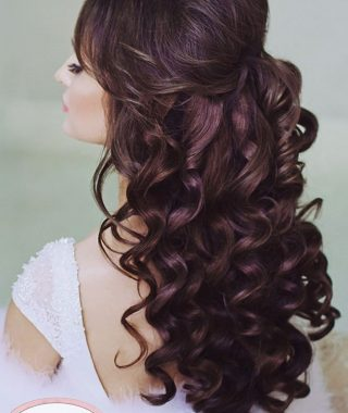 Half Up Half Down Curly Wedding Hairstyles