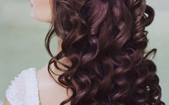 Half Up Curls Hairstyles For Wedding