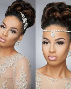Updo Hairstyles For Black Bridesmaids