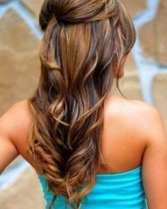 Loose Curly Half Updo Wedding Hairstyles With Bouffant