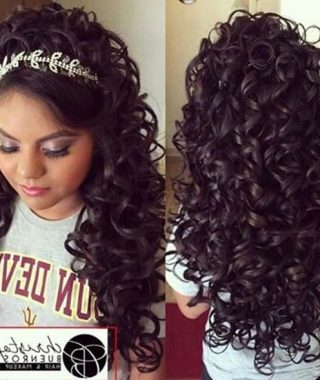 Long Curly Quinceanera Hairstyles